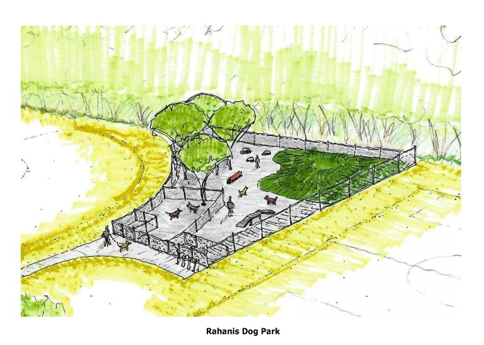 Rahanis Dog Park Rendering (Bird's Eye View)